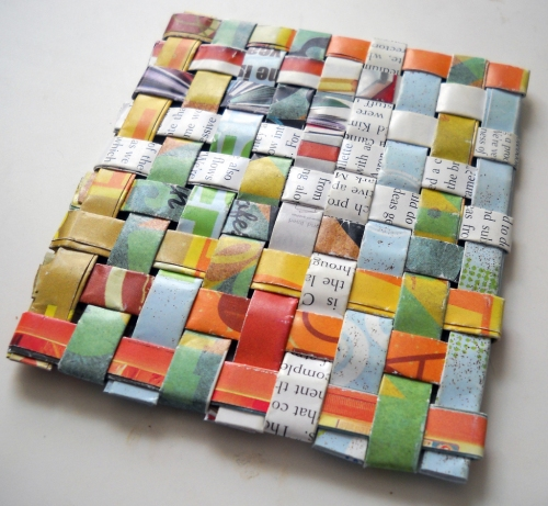Recycled Magazine Coaster