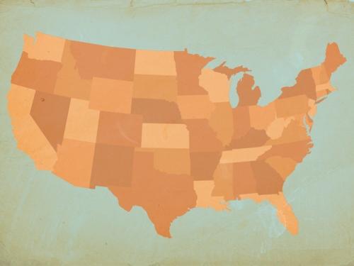 Vintage USA , Orange