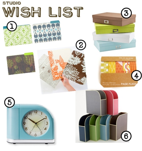Studio  Wish list 1