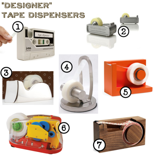 images of designer tape dispensers