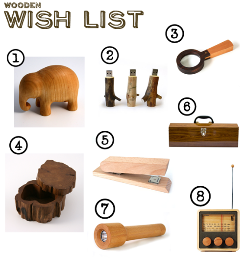 wooden wish list